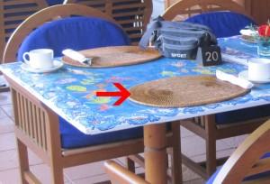 Ayodya Resort Bali Tischaufleger